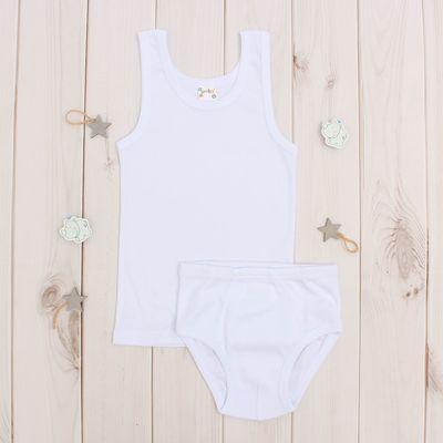 Комплект для мальчика, рост 122-128 (7 лет), цвет белый