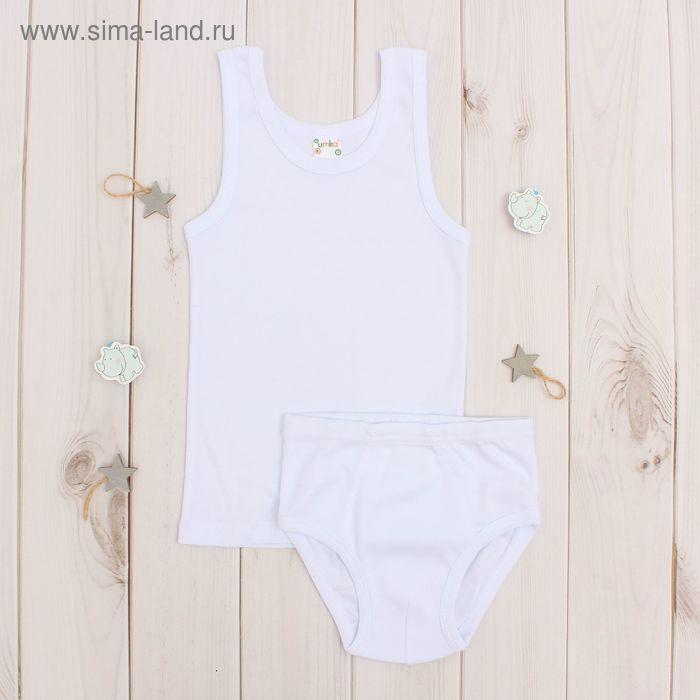 Комплект для мальчика, рост 86-92 , цвет белый
