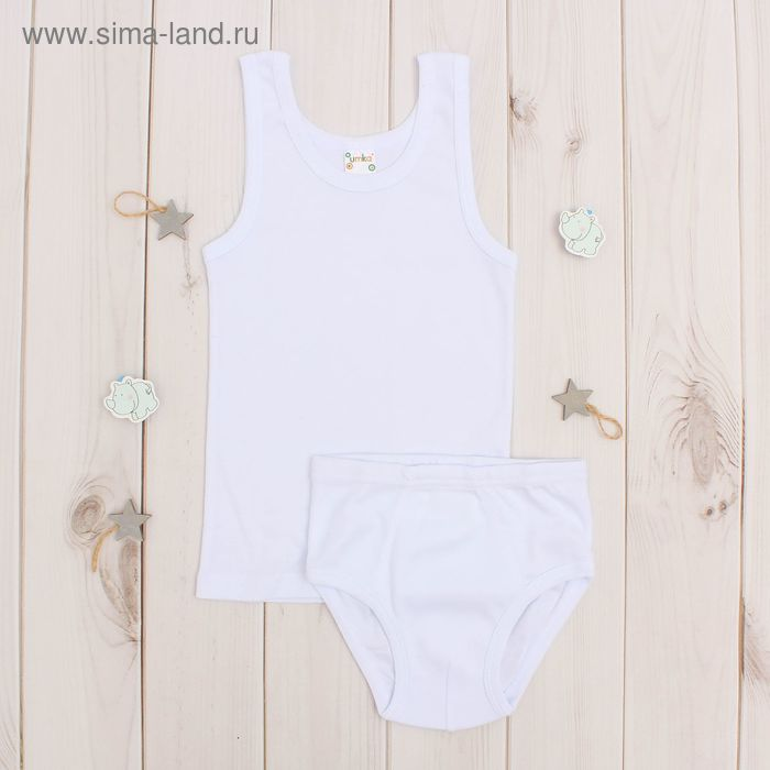 Комплект для мальчика, рост 98-104 (3 г), цвет белый