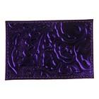 Футляр для карточек и проездных, натуральная кожа, пион фиолетовый