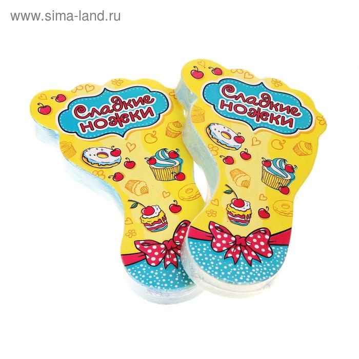 """Полотенце прессованное Collorista """"Сладкие ножки"""", размер 28 х 60 см, цвет микс"""