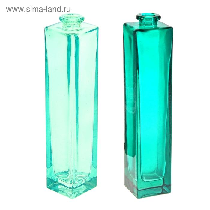 "Ваза ""Нарцисс"" зеленая прозрачная 0,45 л микс"