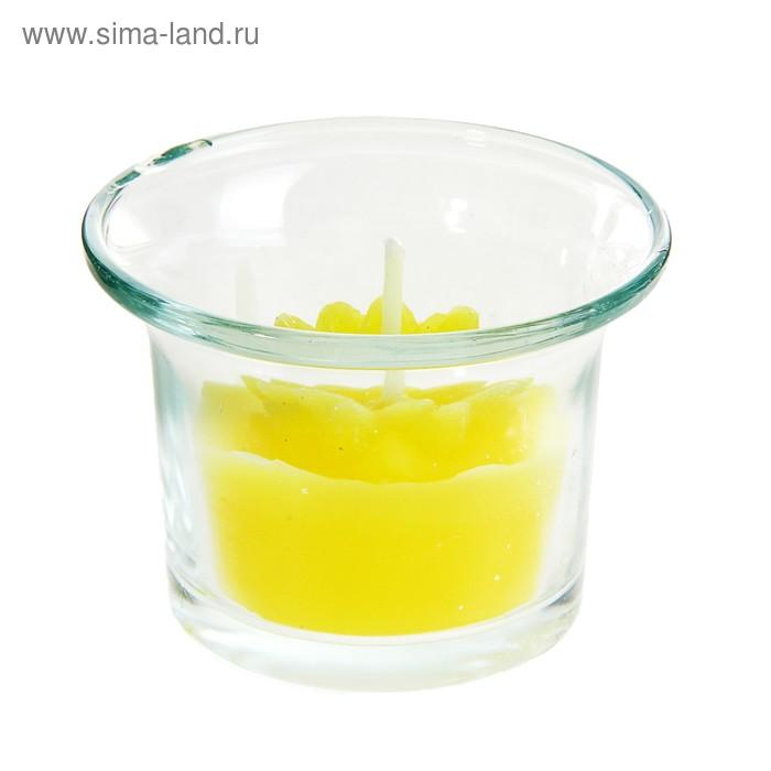 """Свеча восковая """"Цветочек"""", цвет желтый"""