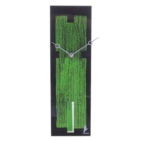 """Часы настенные """"текстура"""" черно-зеленые"""