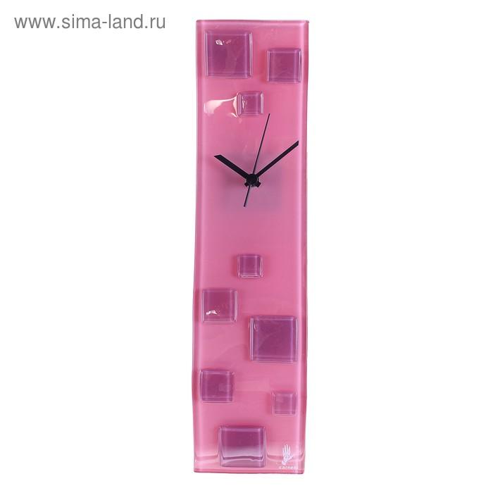 """Часы настенные """"Кубики"""", розовые"""