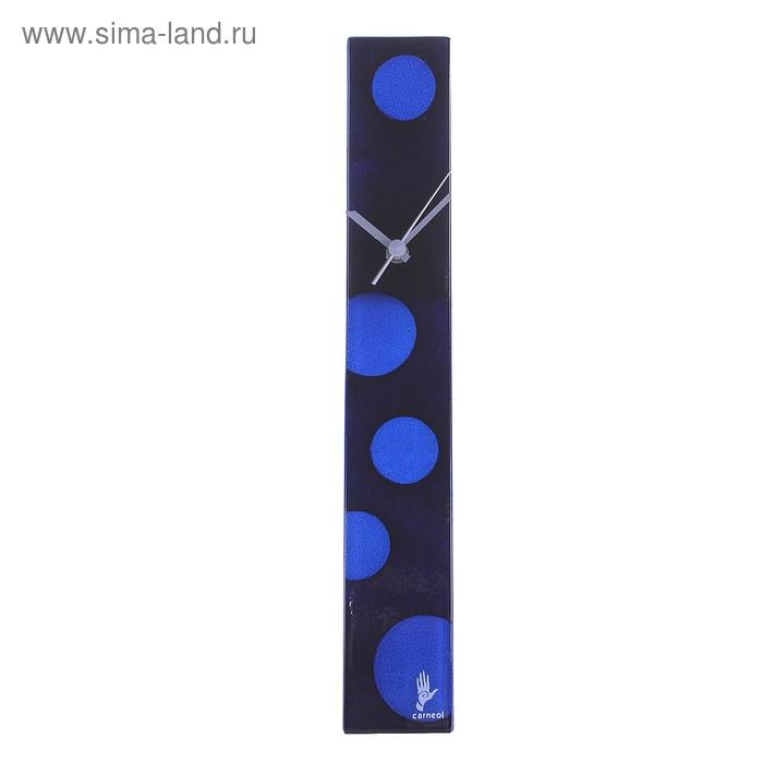 """Часы настенные """"Круги"""" черно-синие"""
