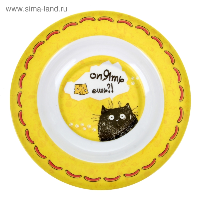 "Тарелка суповая ""Опять ешь"""