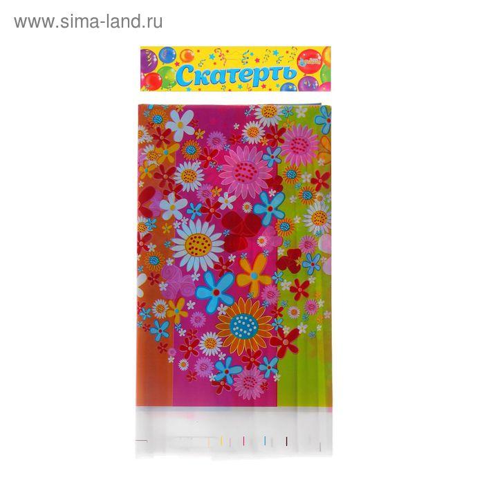 """Скатерть """"Цветочки"""", 108х180 см"""