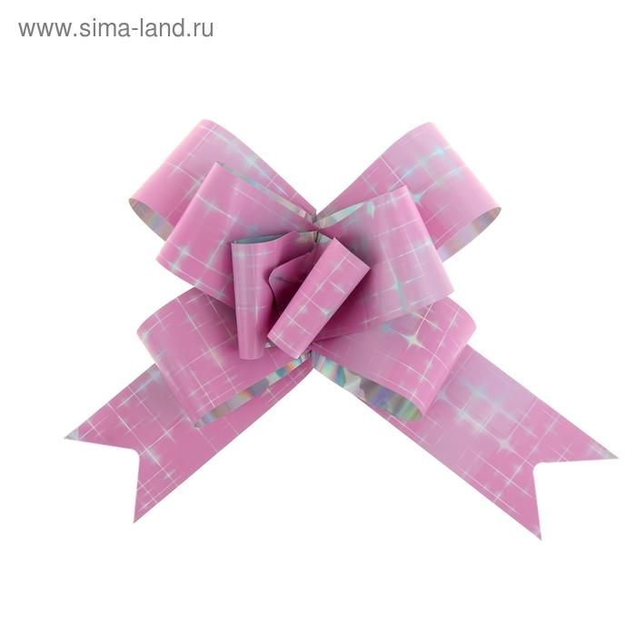 """Бант-бабочка №3 """"Сияние"""", цвет розовый"""