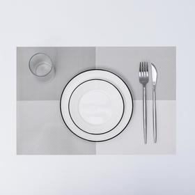 "Салфетка кухонная ""Настроение"" 45х30 см, цвет серый"