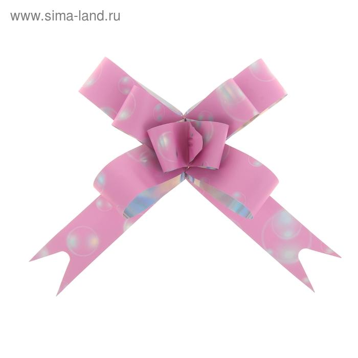"""Бант-бабочка №1,8 """"Воздушные шары"""", цвет розовый"""