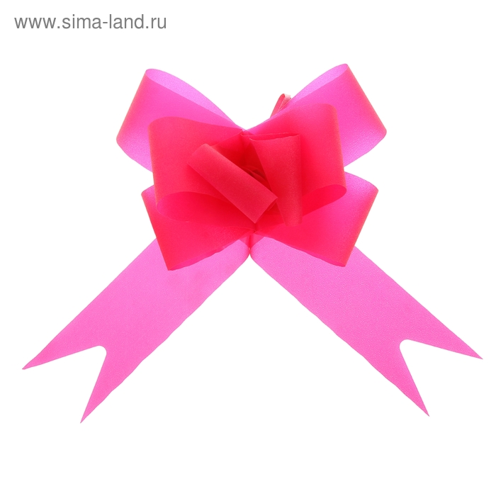 "Бант-бабочка №4,5 ""Классика"", цвет малиновый"