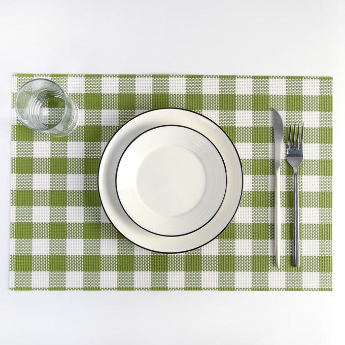 "Салфетка кухонная ""Ретро"" 45х30 см, цвет зеленый"