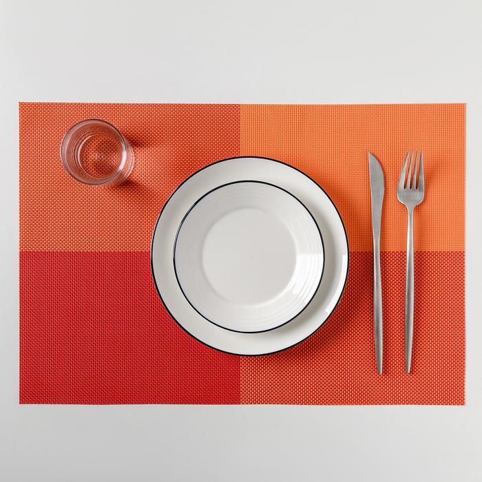 """Салфетка кухонная 45х30 см """"Настроение"""", цвет оранжевый"""
