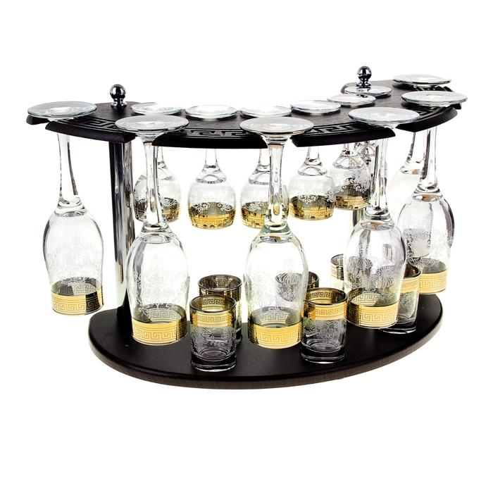 """Мини-бар """"Гравировка"""" 18 предметов, под шампанское 200 мл/ 50 мл/ 60 мл - фото 5828722"""