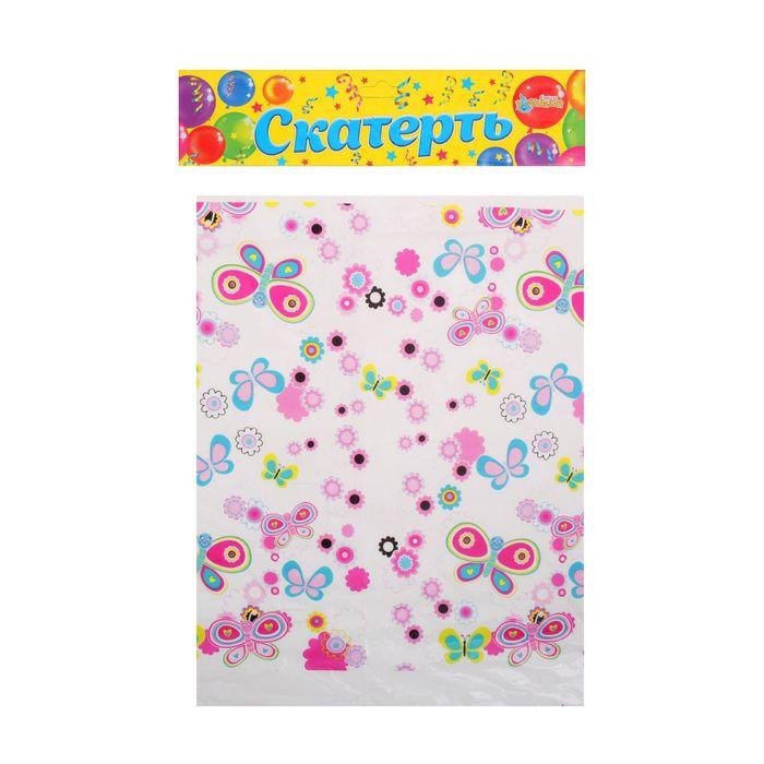 """Скатерть """"Цветочки и бабочки"""", 108х180 см"""