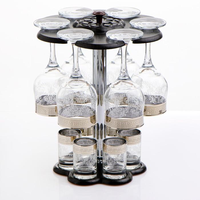 """Мини-бар """"Гравировка"""" 12 предметов, под вино 290 мл/ 50 мл"""