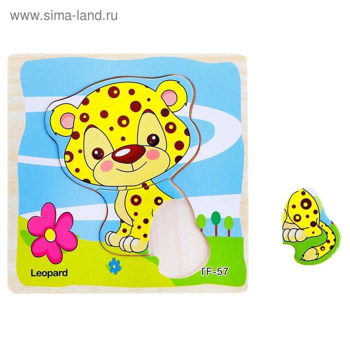"""Пазл мини """"Леопард"""", 3 элемента"""