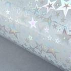 "Плёнка голография ""Звёзды на серебре"", 50 х 70 см"