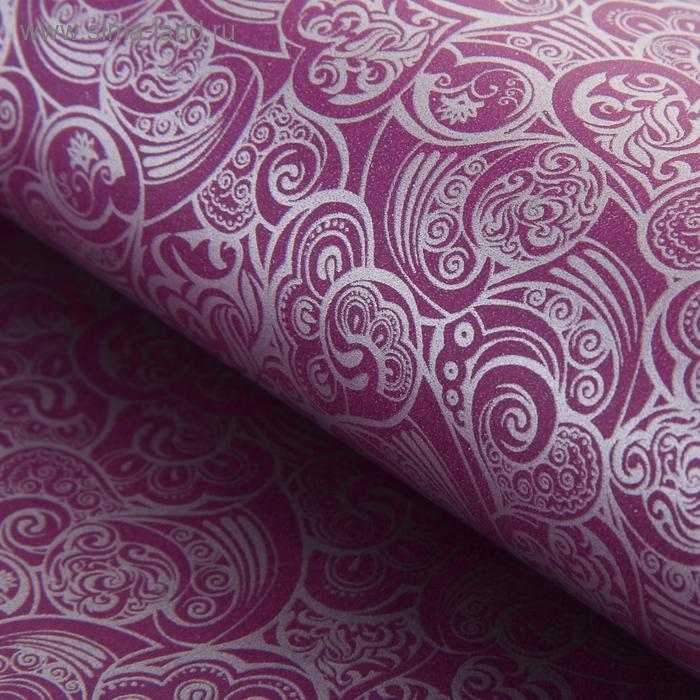 """Бумага """"Ажурные сердца"""", цвет фиолетовый"""