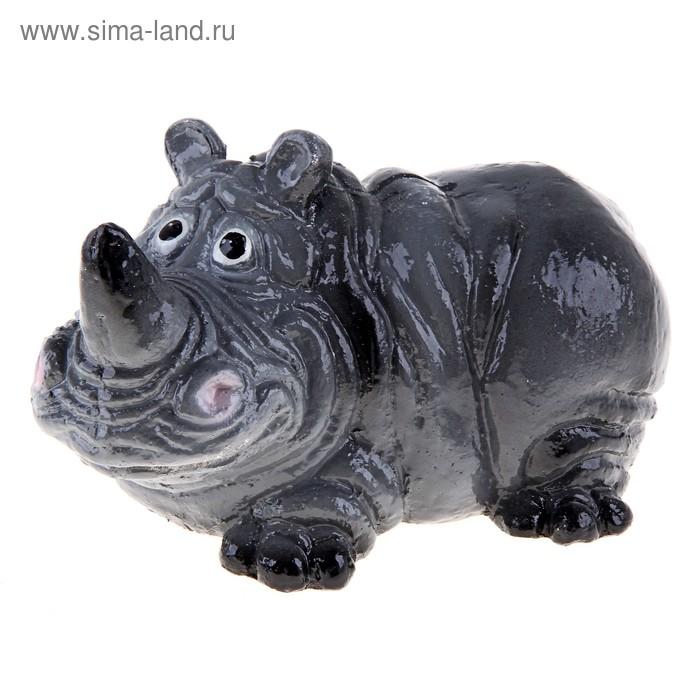 """Копилка """"Носорог"""" серая"""