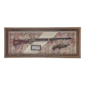 Винтовка и пистолет в раме, 5х122х47 см