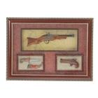 Сувенирное изделие в раме мушкет, пистолет с прицелом, кортик