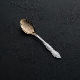 Ложка чайная «Тройка», h=14 см, толщина 1,5 мм, художественная роспись по нитрид-титановому покрытию