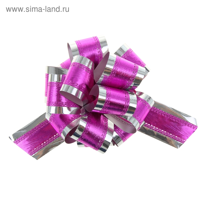 """Бант-шар №5 """"Серебряный блеск"""", цвет розовый"""