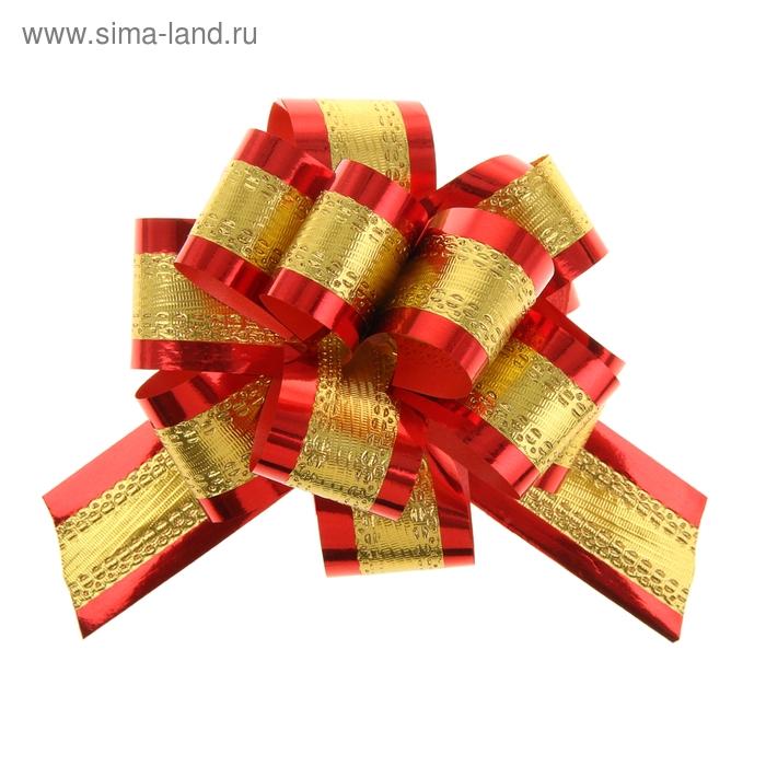 Бант-шар №3,2 золотой в красном