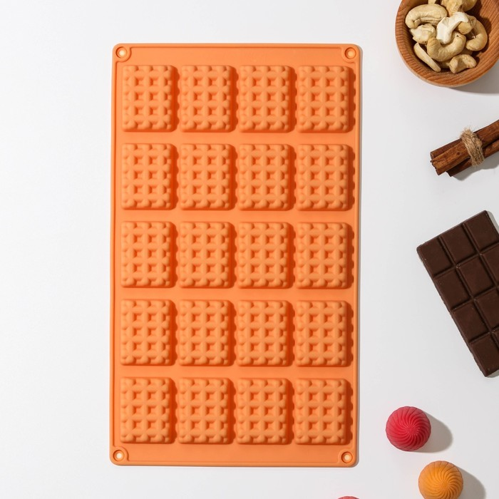 """Form for ice and chocolate """"Wafers"""", 20 cells, MIX colors"""