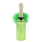 """Одежда на бутылку """"Жгучая красавица"""", цвет зелёный"""