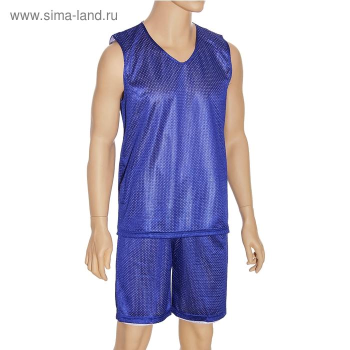 Форма баскетбольная двухсторонняя мужская р. 4ХL, рост 180 см, цвет синий-белый