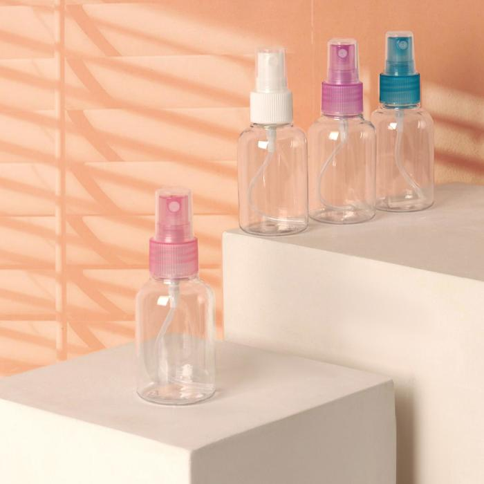 Бутылочка для хранения с распылителем, 50мл, цвет МИКС