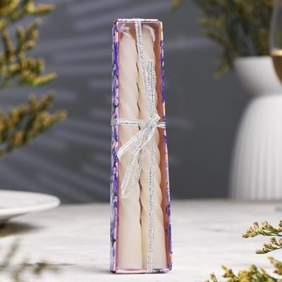 Свечи восковые витые (набор 2 шт), аромат жасмин