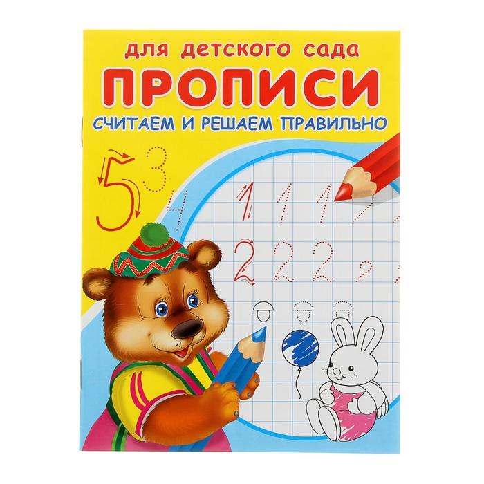 Раскраска-пропись для детского сада «Считаем и решаем правильно» - фото 106533989