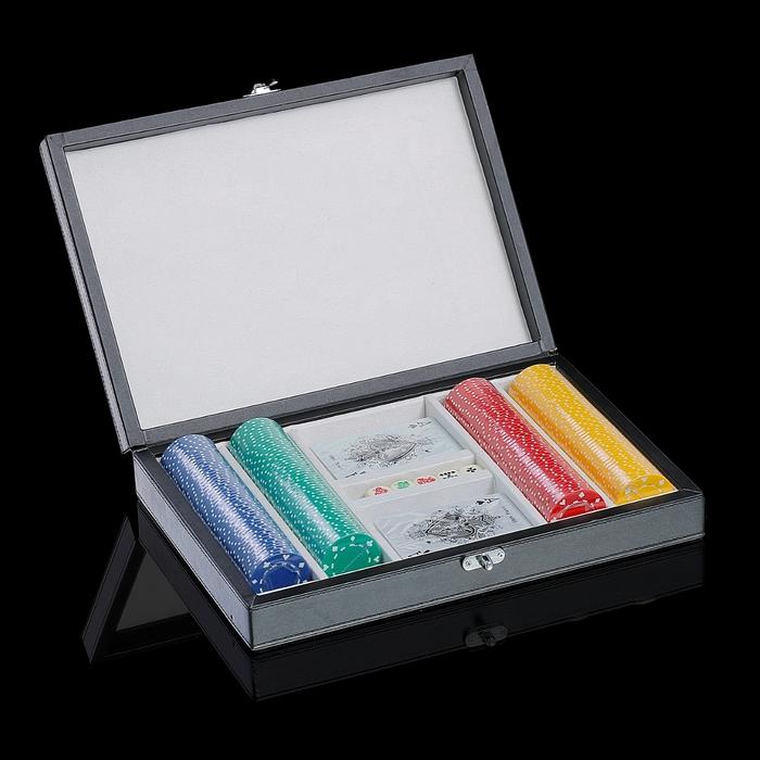 Набор для покера (2 колоды карт, игральные кости, фишки)