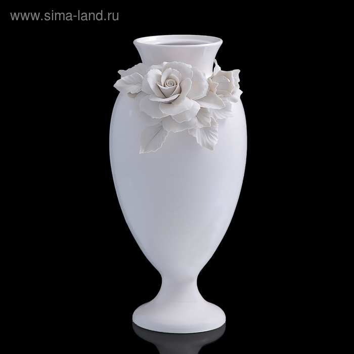 Ваза декоративная White Rose