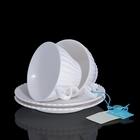 Набор: 2 чайные пары Confetteria белые, 150 мл