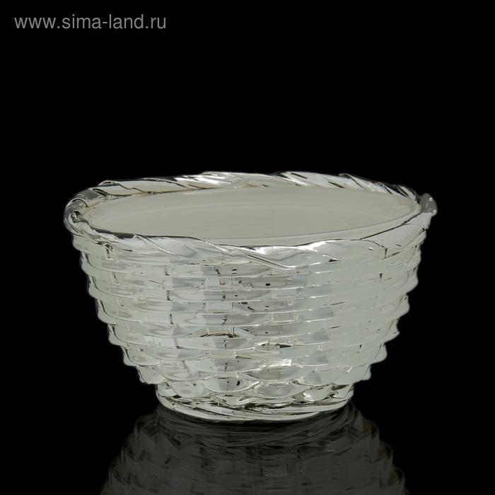 """Чаша """"Плетение"""", белая"""