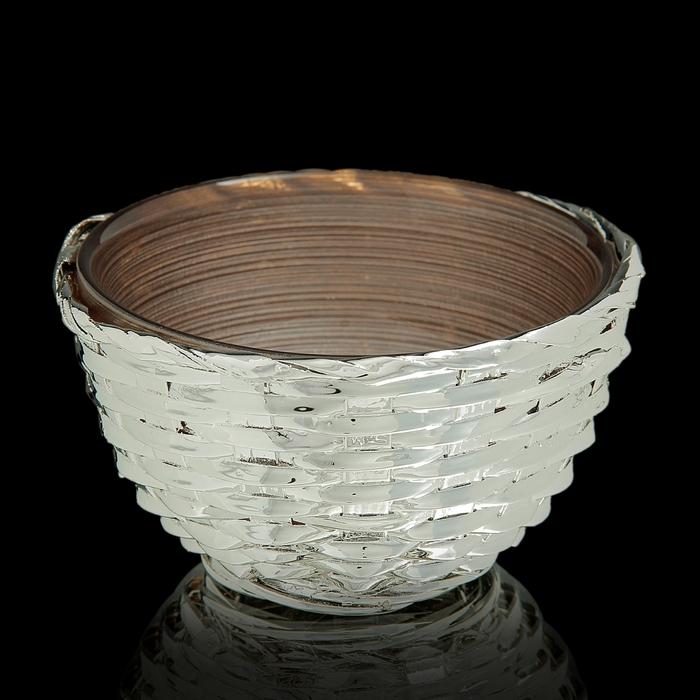 """Чаша """"Плетение"""", коричневая"""