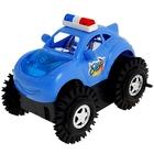 """Машина-перевертыш """"Полиция""""работает от батареек,световые эффекты цвета МИКС в пакете"""
