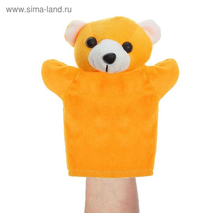 """Мягкая игрушка на руку """"Мишка"""", цвет тёмно-жёлтый"""