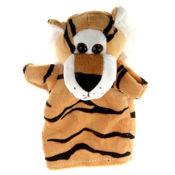 """Мягкая игрушка на руку """"Тигрёнок"""", цвет светло-коричневый"""
