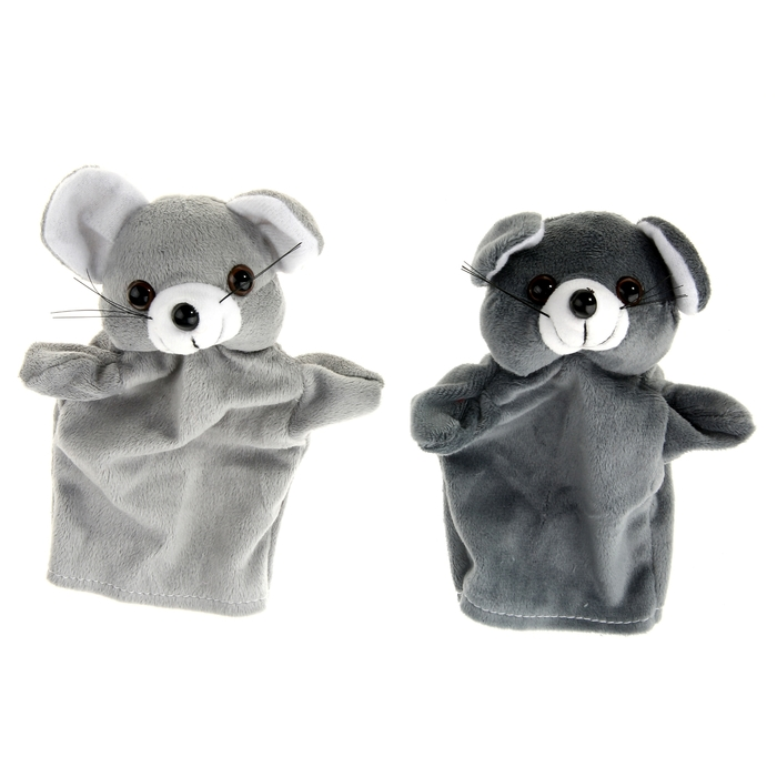 """Мягкая игрушка на руку """"Мышка"""", цвета МИКС"""