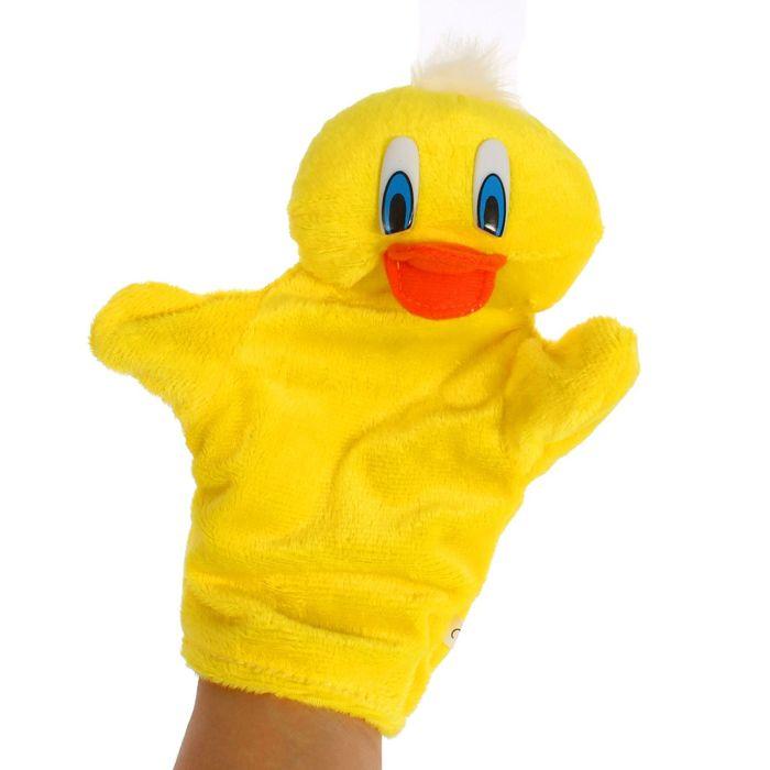 "Мягкая игрушка на руку ""Уточка"", цвет ярко-жёлтый"