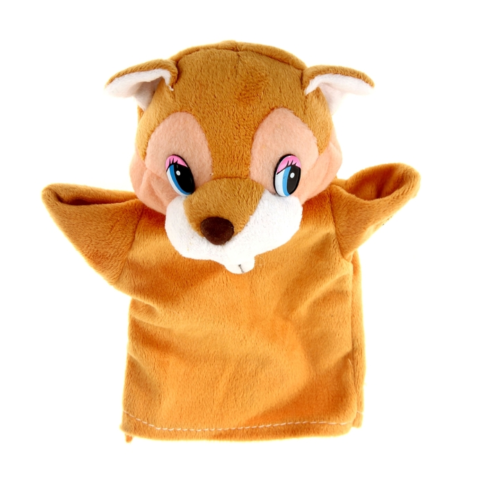 """Мягкая игрушка на руку """"Хомяк"""", цвет светло-коричневый"""
