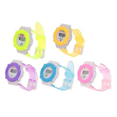 Часы наручные электронные «Цветы», детские, с силиконовым ремешком, микс