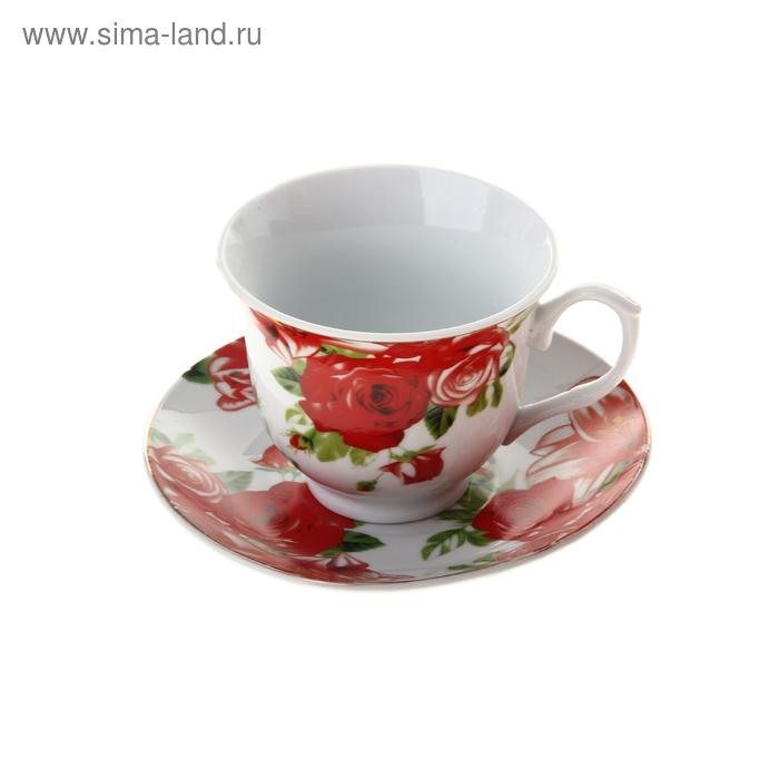 """Набор чайный """"Белла"""", 2 предмета: чашка 200 мл, блюдце"""