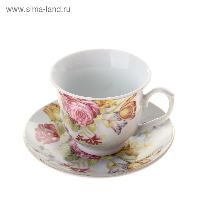 """Набор чайный """"Ангелина"""", 2 предмета: чашка 200 мл, блюдце"""